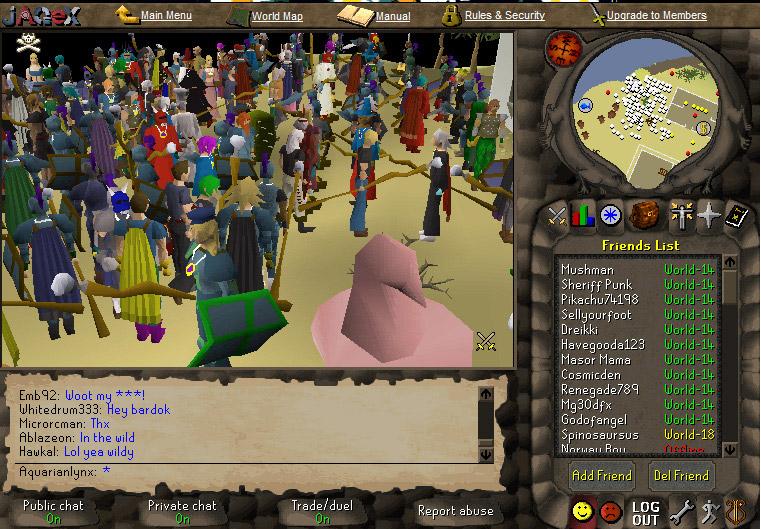 Screen capture of a ton of people at our drop party