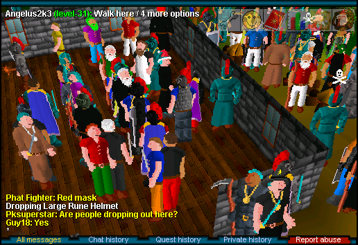 A screen capture of the New Years party